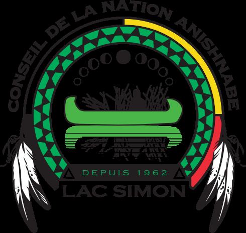 Logo Le conseil de la nation Anishnabe du Lac Simon | Opposition Hydro-Québec NECEC | Quebec Hydro Clash